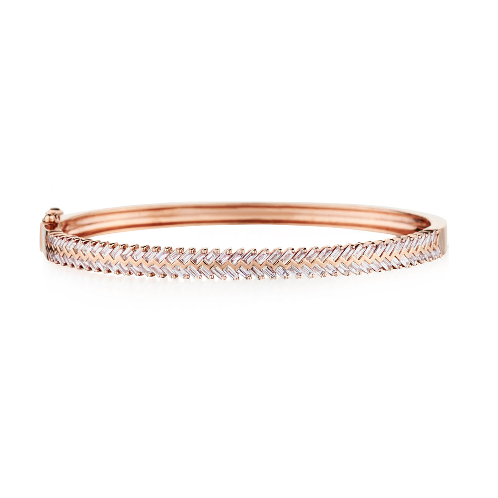 HERRINGBONE DIAMOND BANGLE