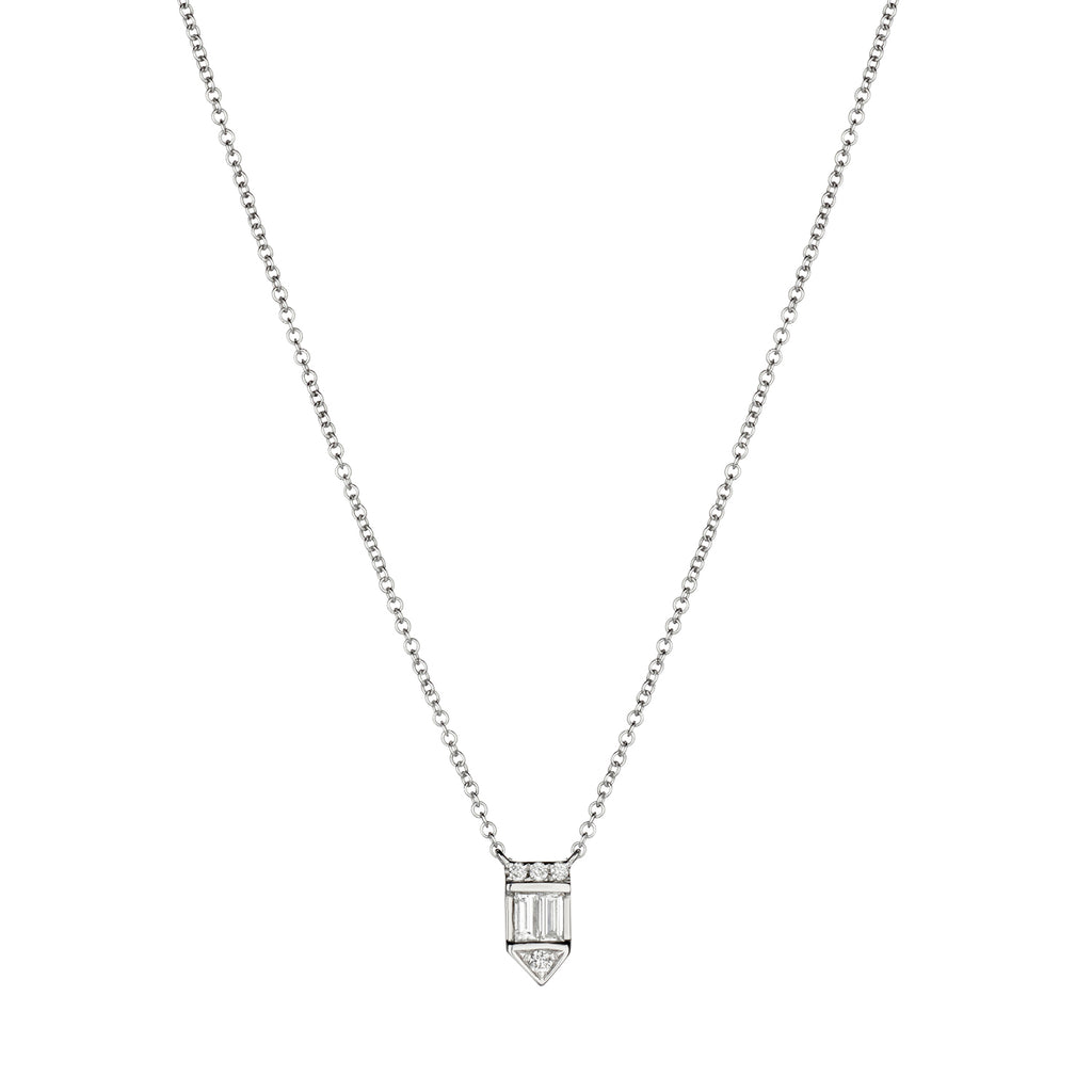 DIAMOND EMBLEM NECKLACE