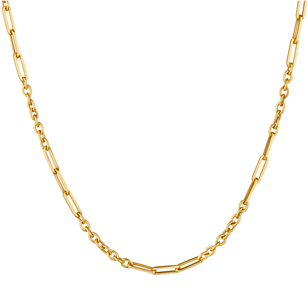 RECTANGULAR & CABLE LINK NECKLACE