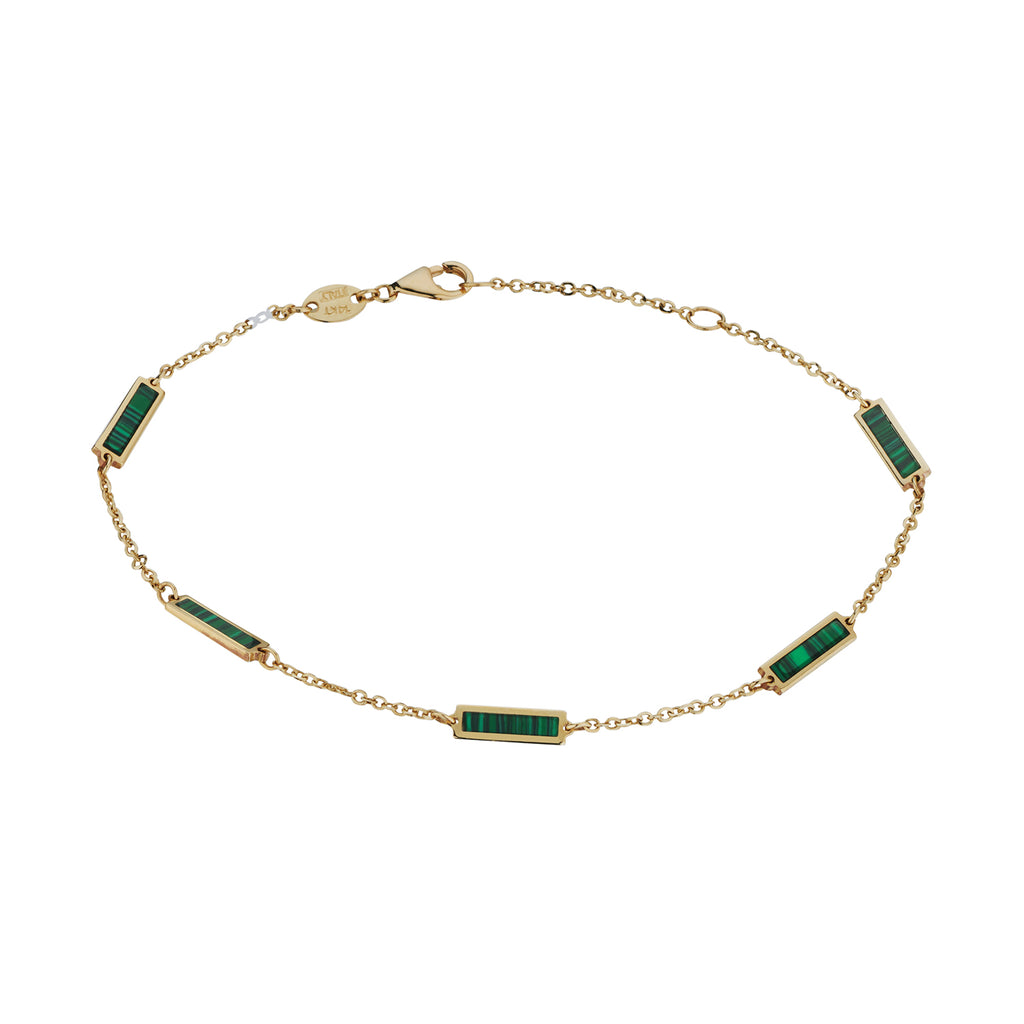 MALACHITE CHAIN BRACELET