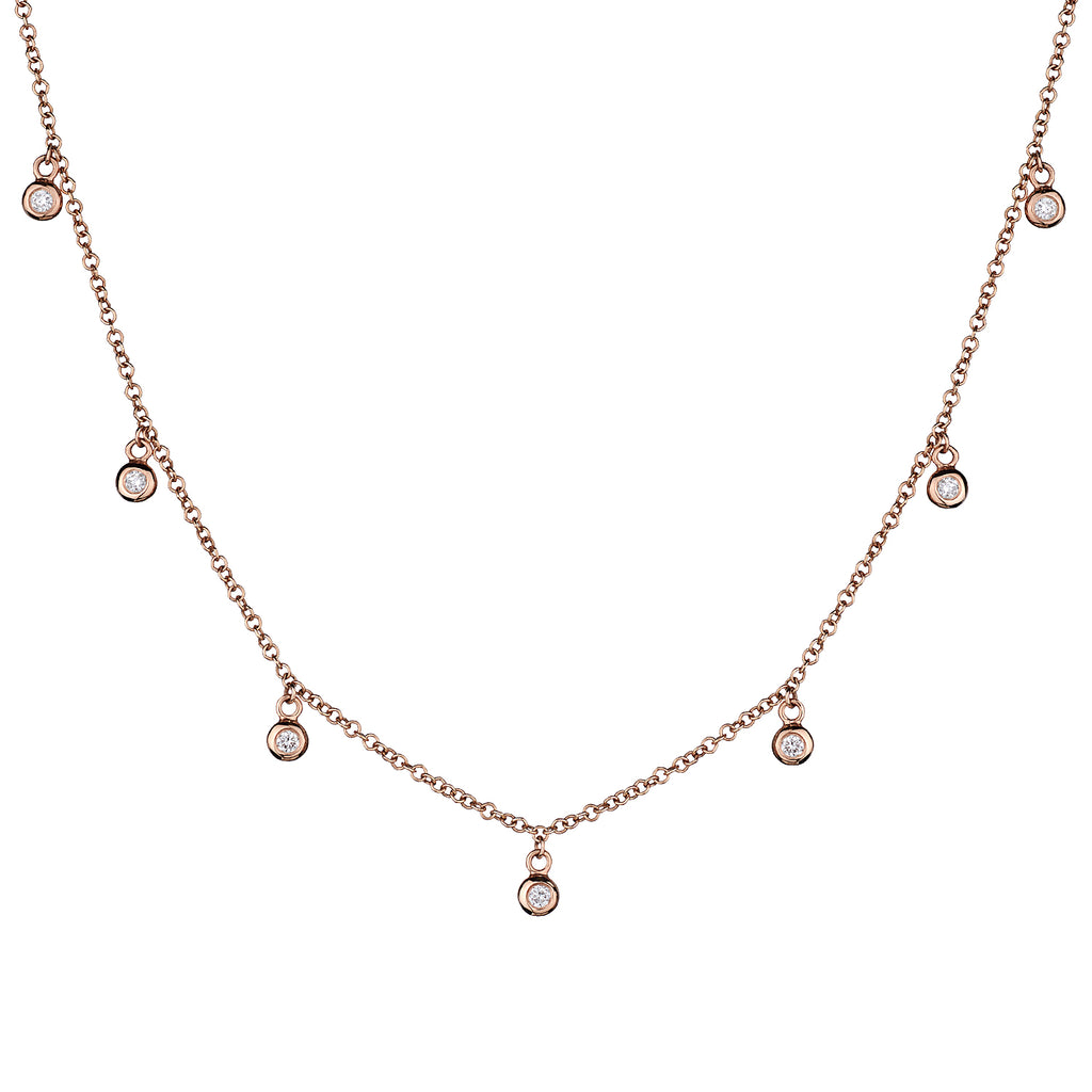 BEZEL SET DIAMOND SPRINKLE NECKLACE
