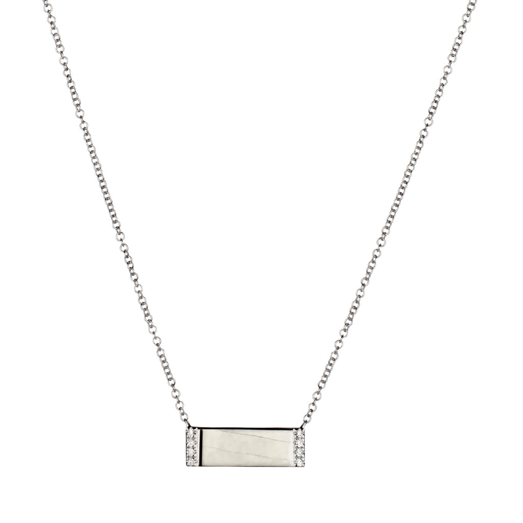 DIAMOND EDGE WIDE BAR NECKLACE