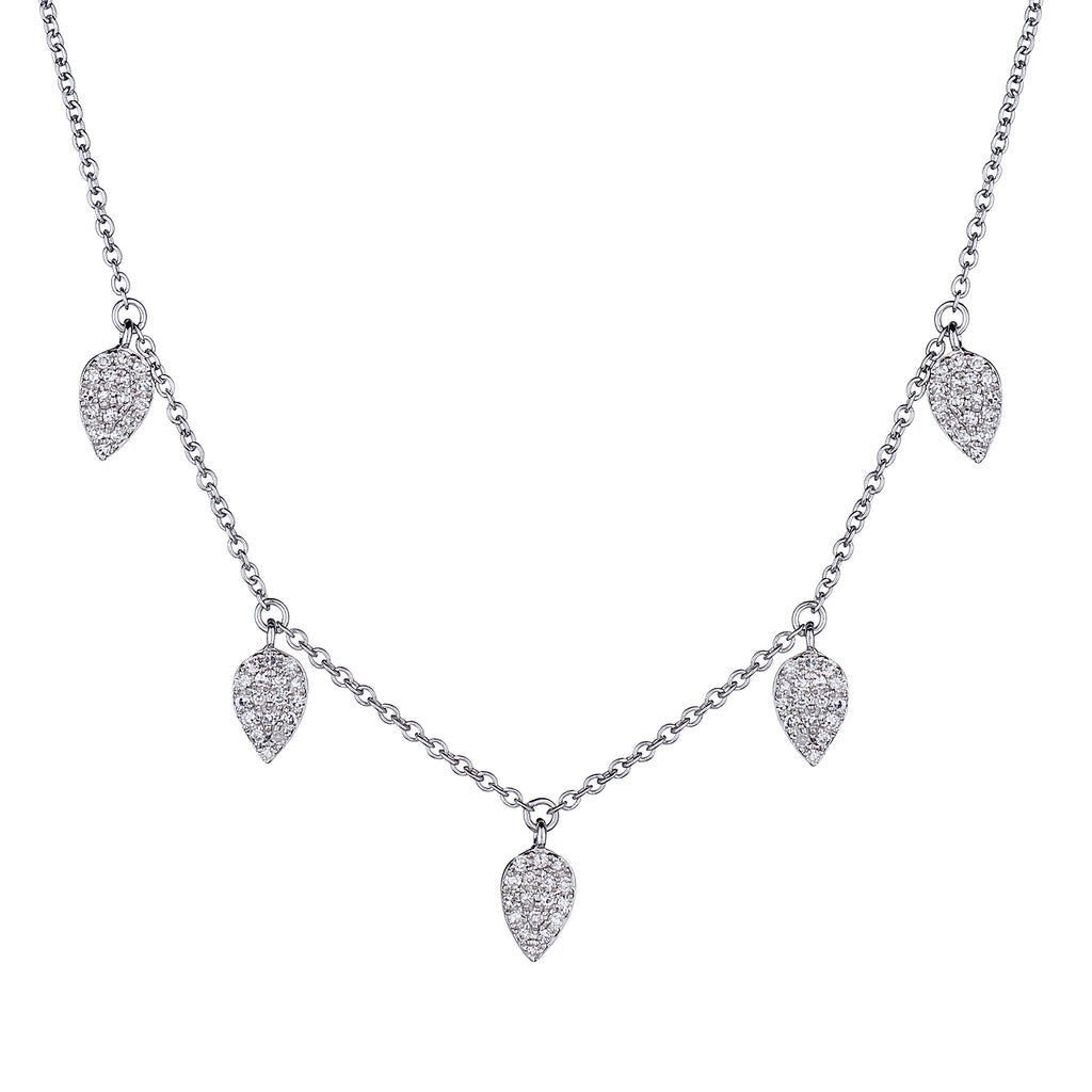 DIAMOND TEARDROP SPRINKLE NECKLACE