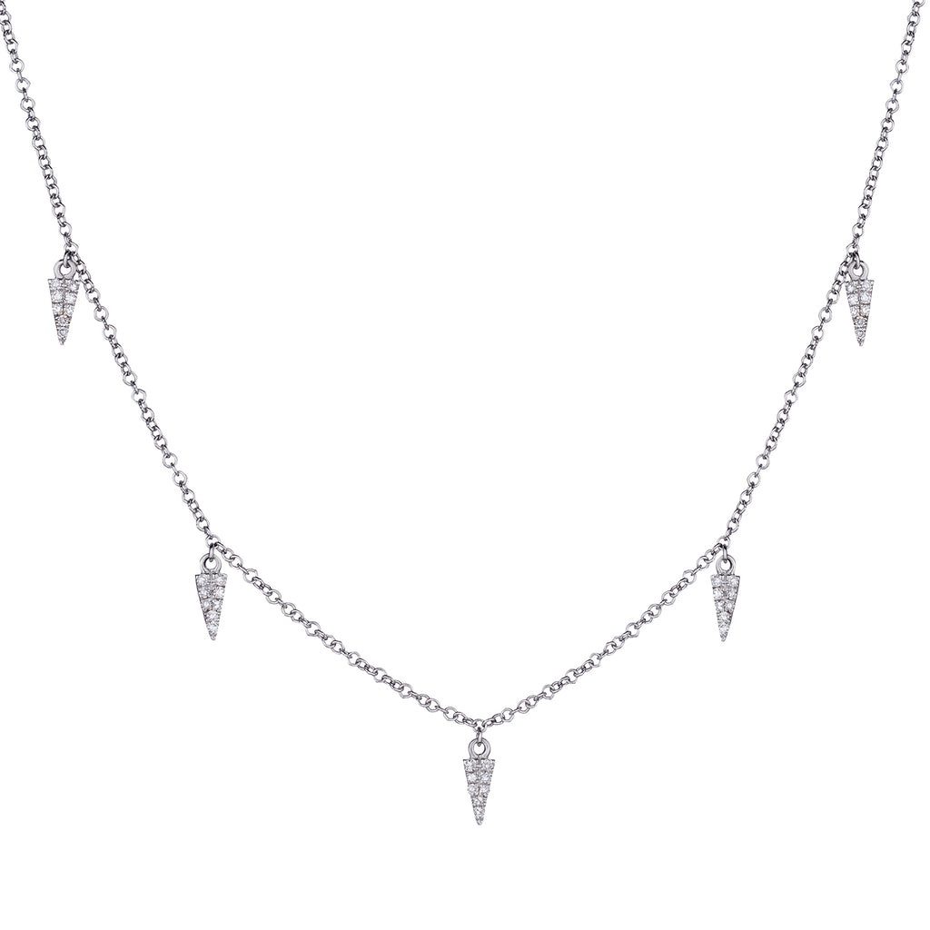 DIAMOND SPIKE SPRINKLE NECKLACE