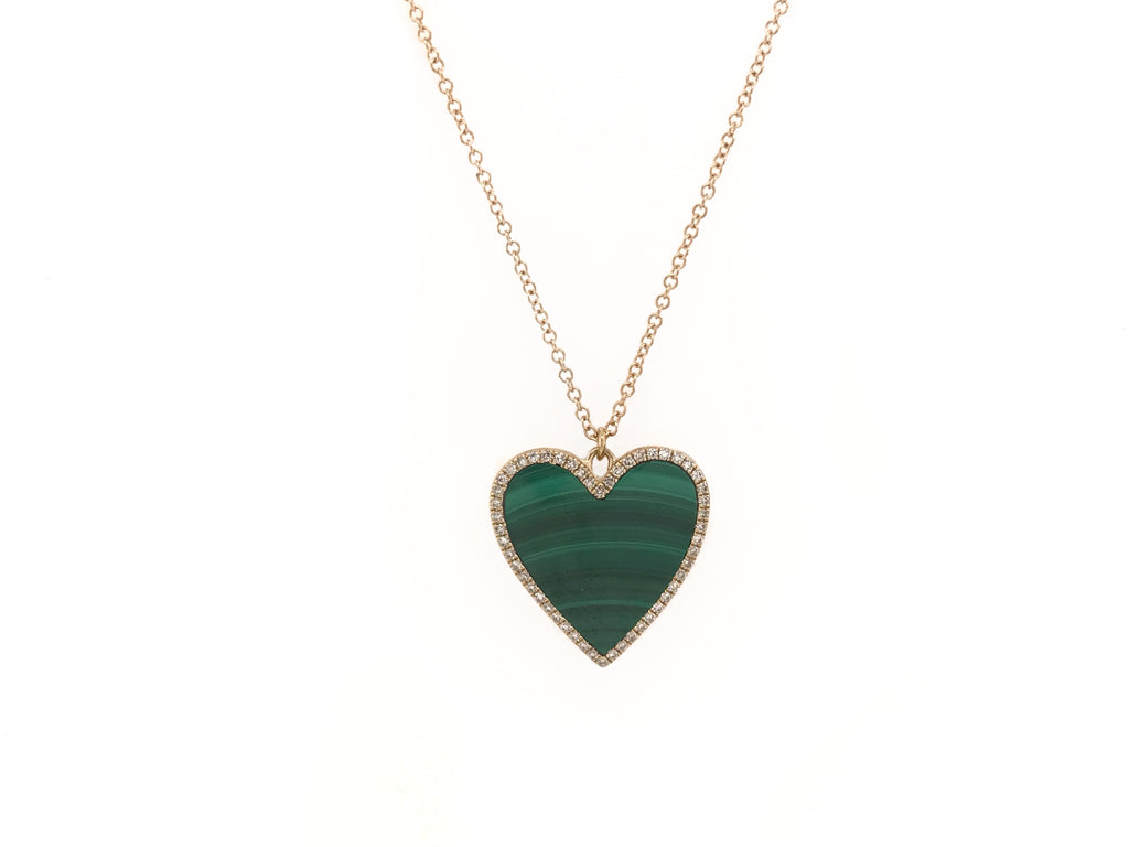Malachite Heart Locket