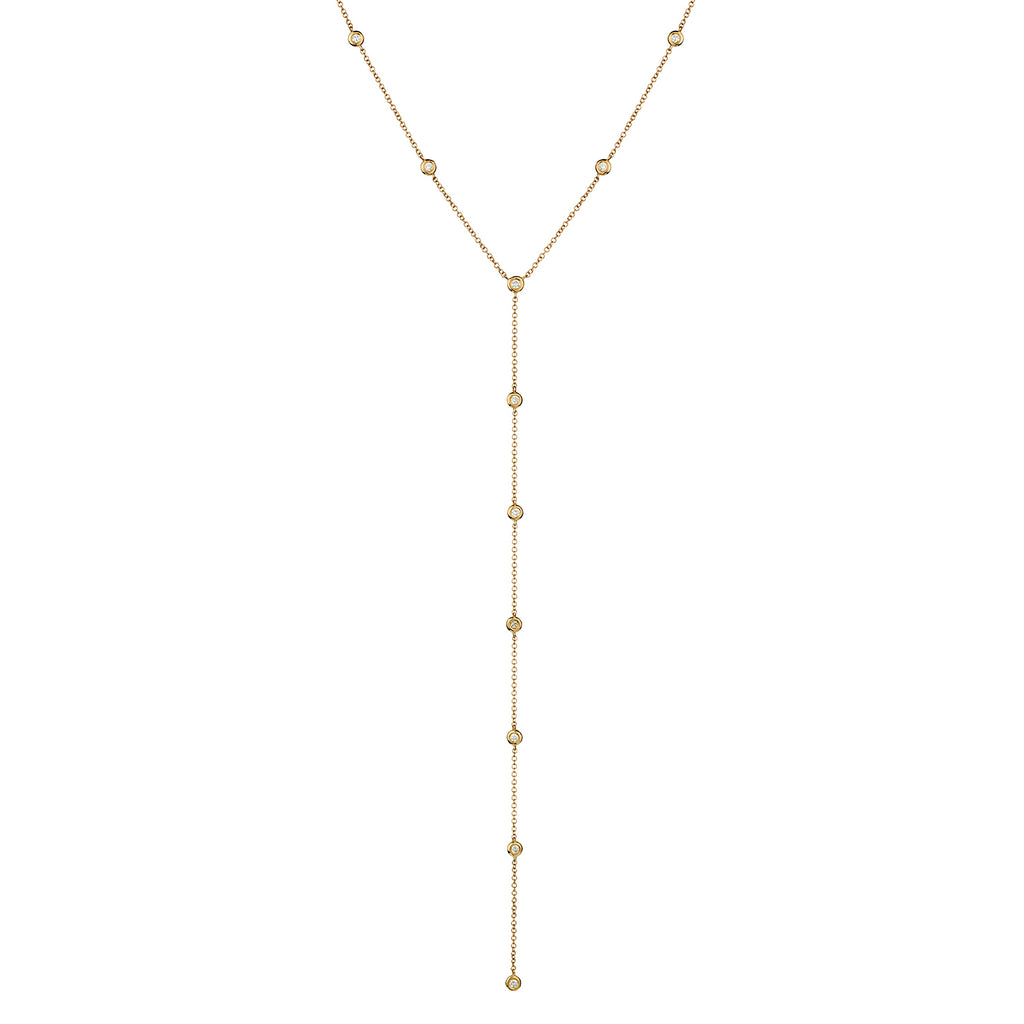 BEZEL SET DIAMOND LARIAT