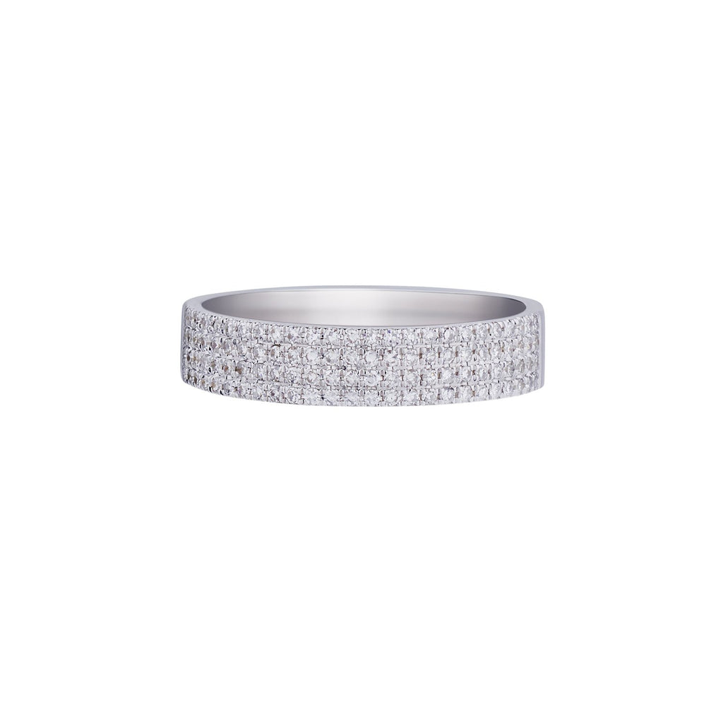 PAVÉ DIAMOND FLAT BAND