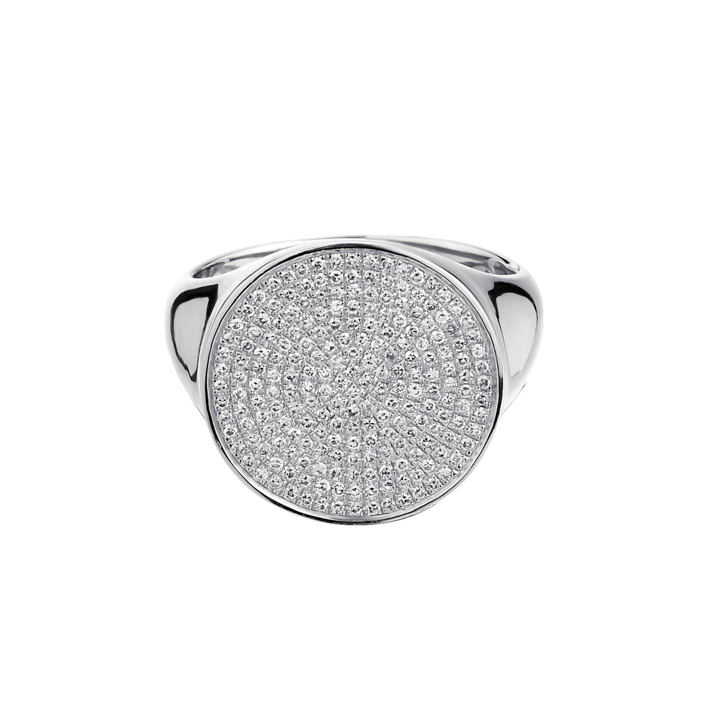 ROUND PAVÉ DIAMOND RING