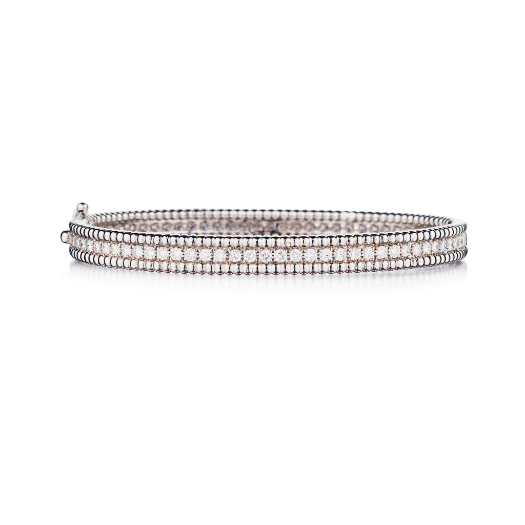 DIAMOND BEADED EDGE BANGLE