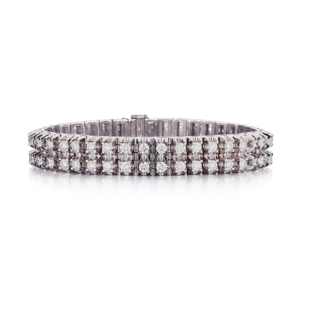 DOUBLE ROW DIAMOND TENNIS BRACELET