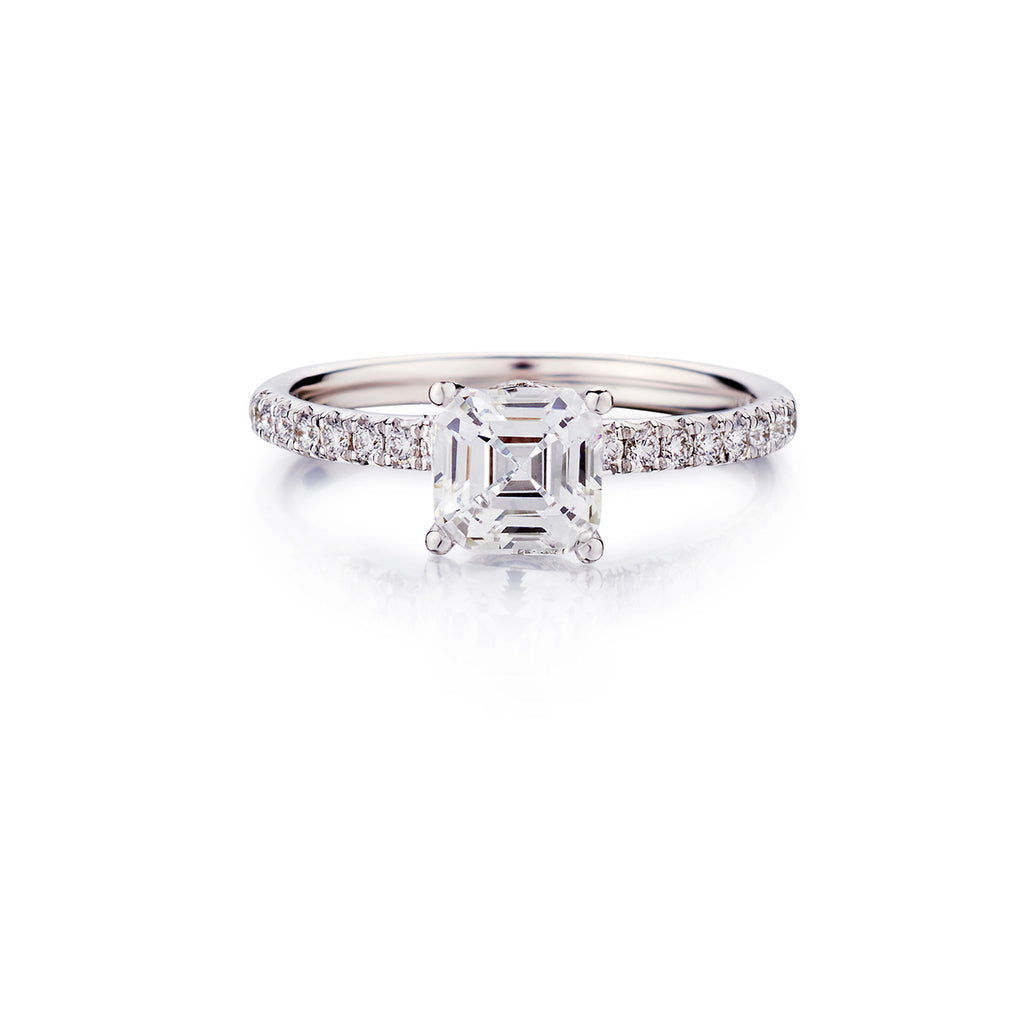 Square Emerald Cut Diamond Ring