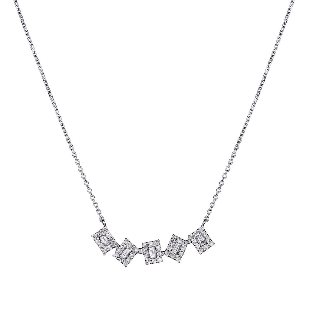 BAGUETTE FRAMED DIAMOND NECKLACE