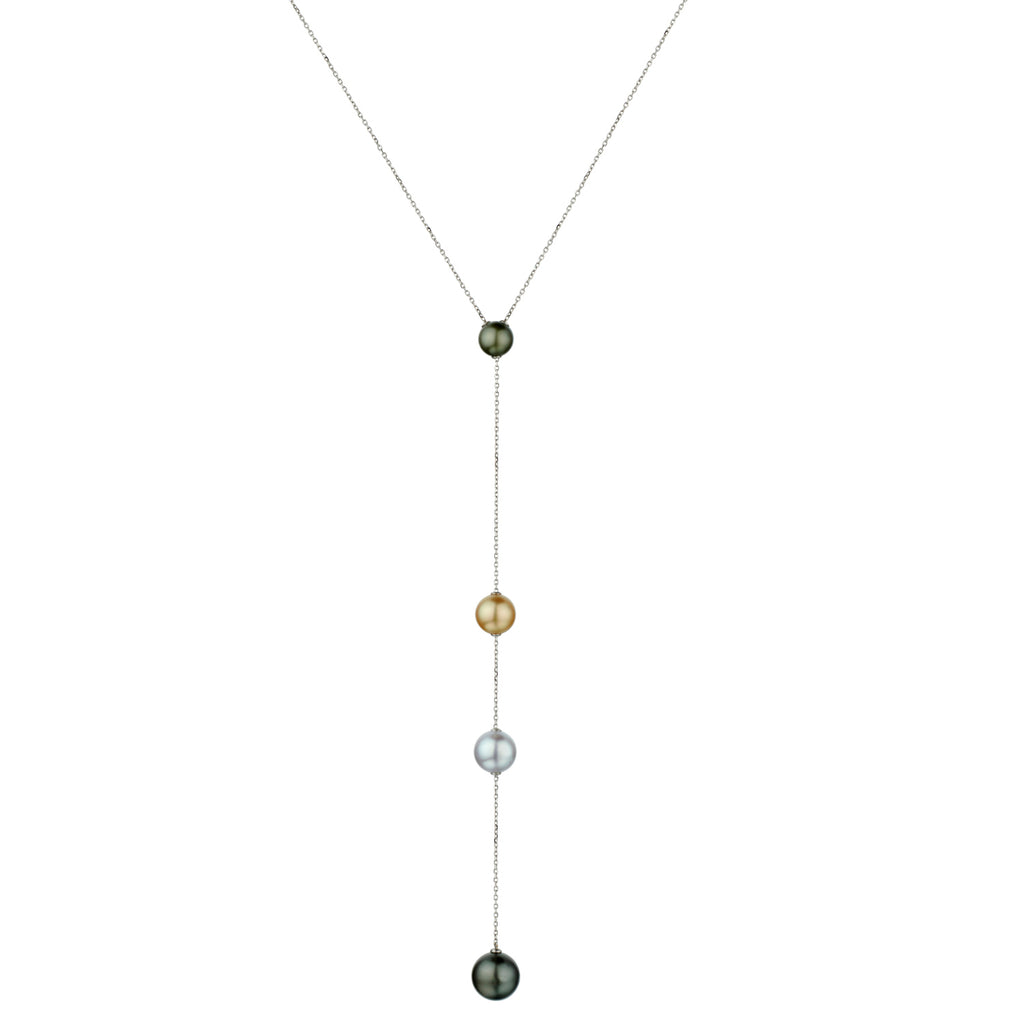 MULTICOLOURED SOUTH SEA PEARL LARIAT