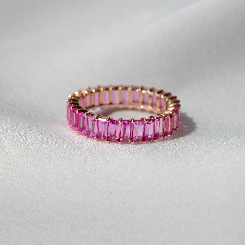 Pink Tourmaline Eternity Band