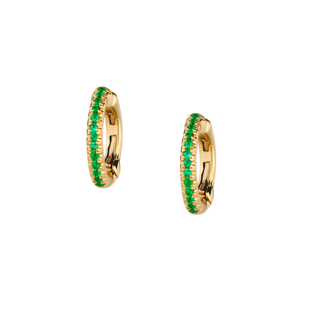 EMERALD CUFF HINGED EARRINGS