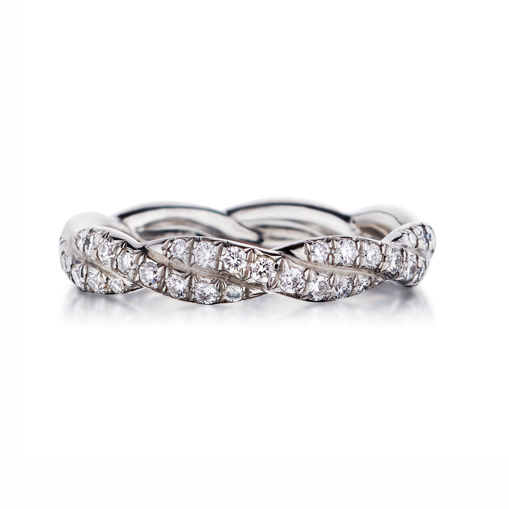 Micro Twisted Diamond Band