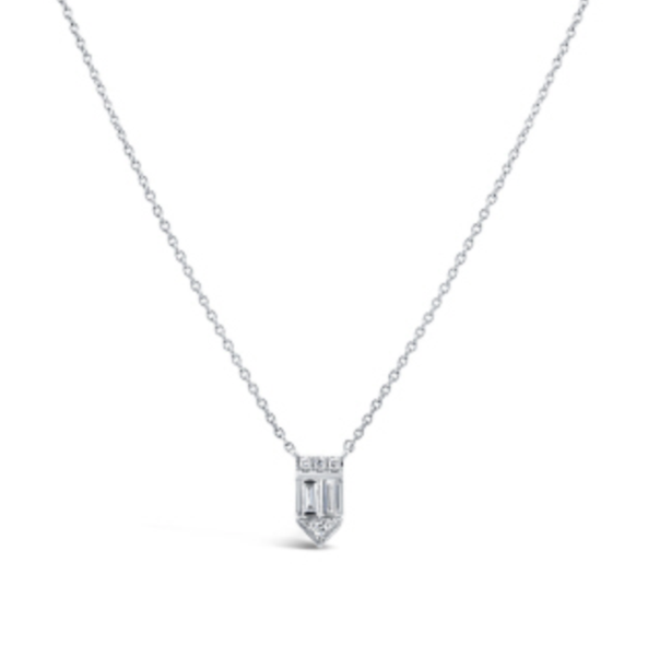 Diamond Baguette Necklace