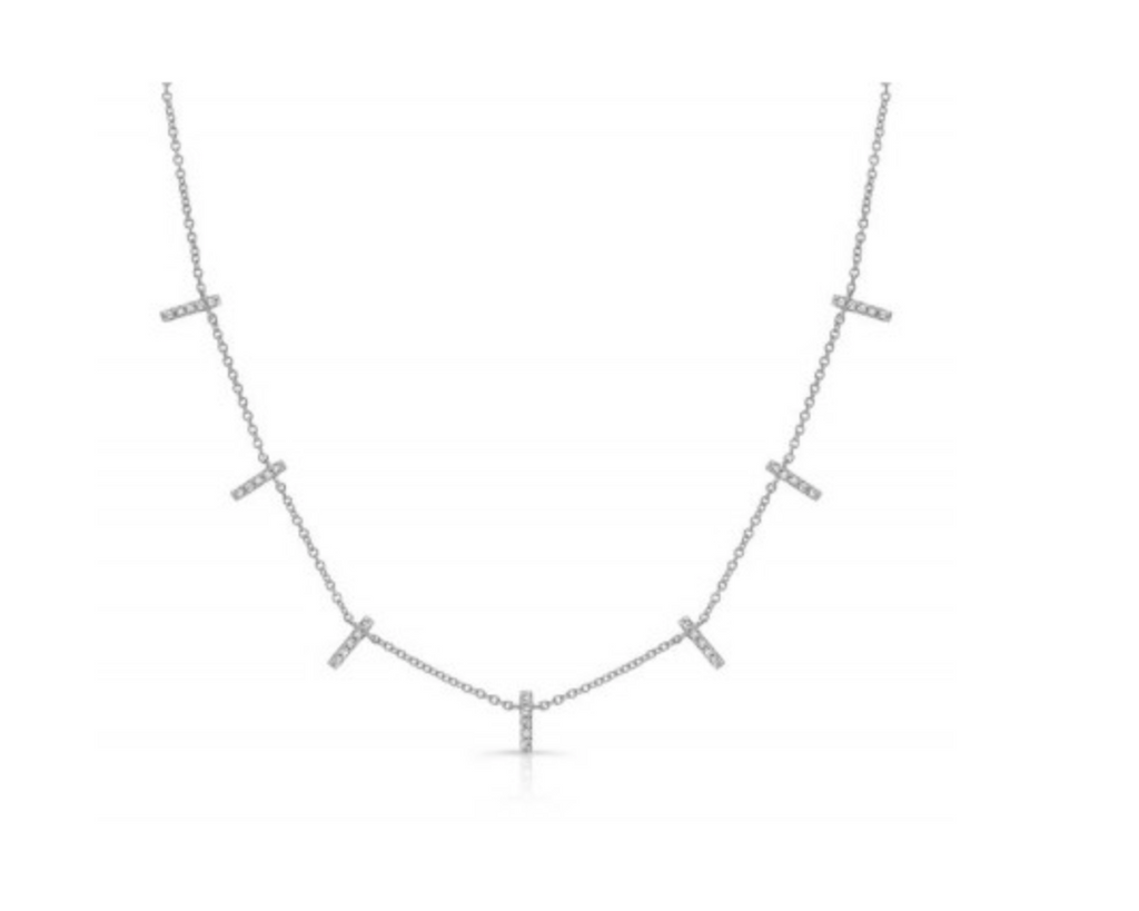 Diamond Dangle Bar Necklace