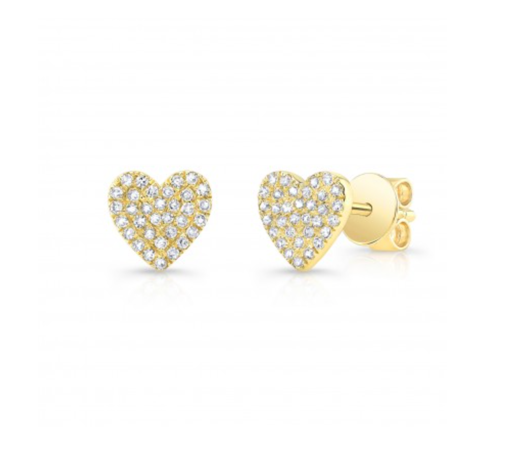 Diamond Heart Stud Earring