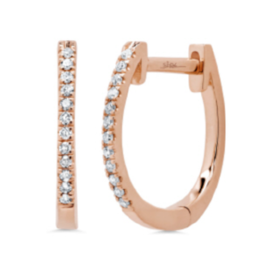Diamond Micro Huggie Earrings