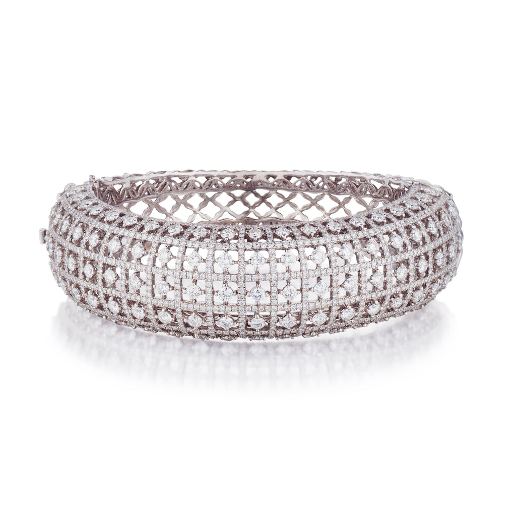 DIAMOND DOMED BANGLE