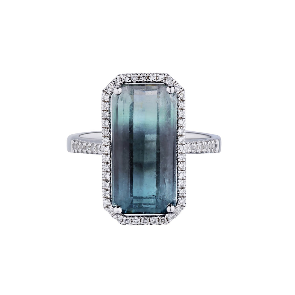OMBRÉ TOURMALINE & DIAMOND RING