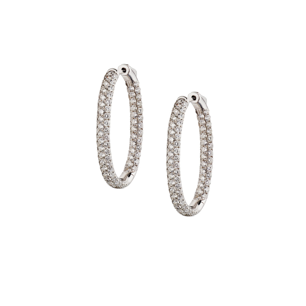 DIAMOND OVAL-SHAPED HOOPS