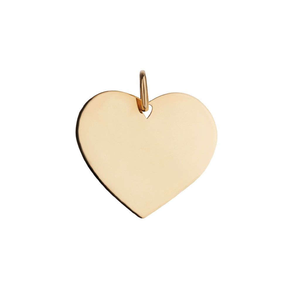 LARGE HEART DISC CHARM
