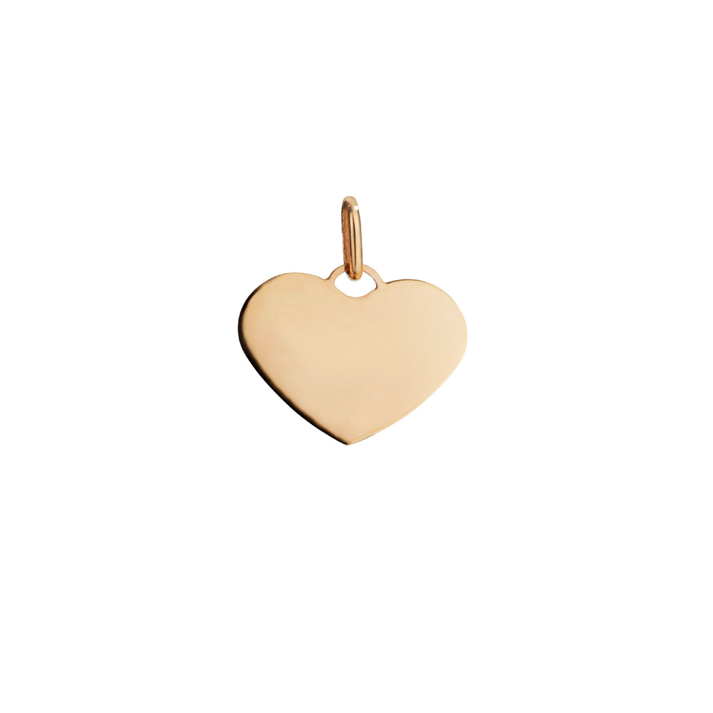 SMALL HEART DISC CHARM