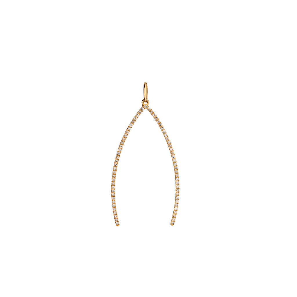 DIAMOND WISHBONE CHARM
