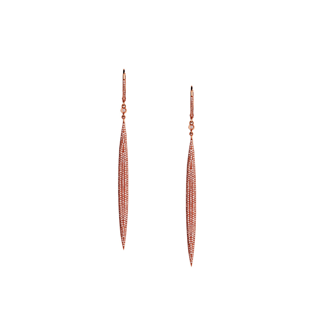 PAVÉ DIAMOND ICE PICK EARRINGS