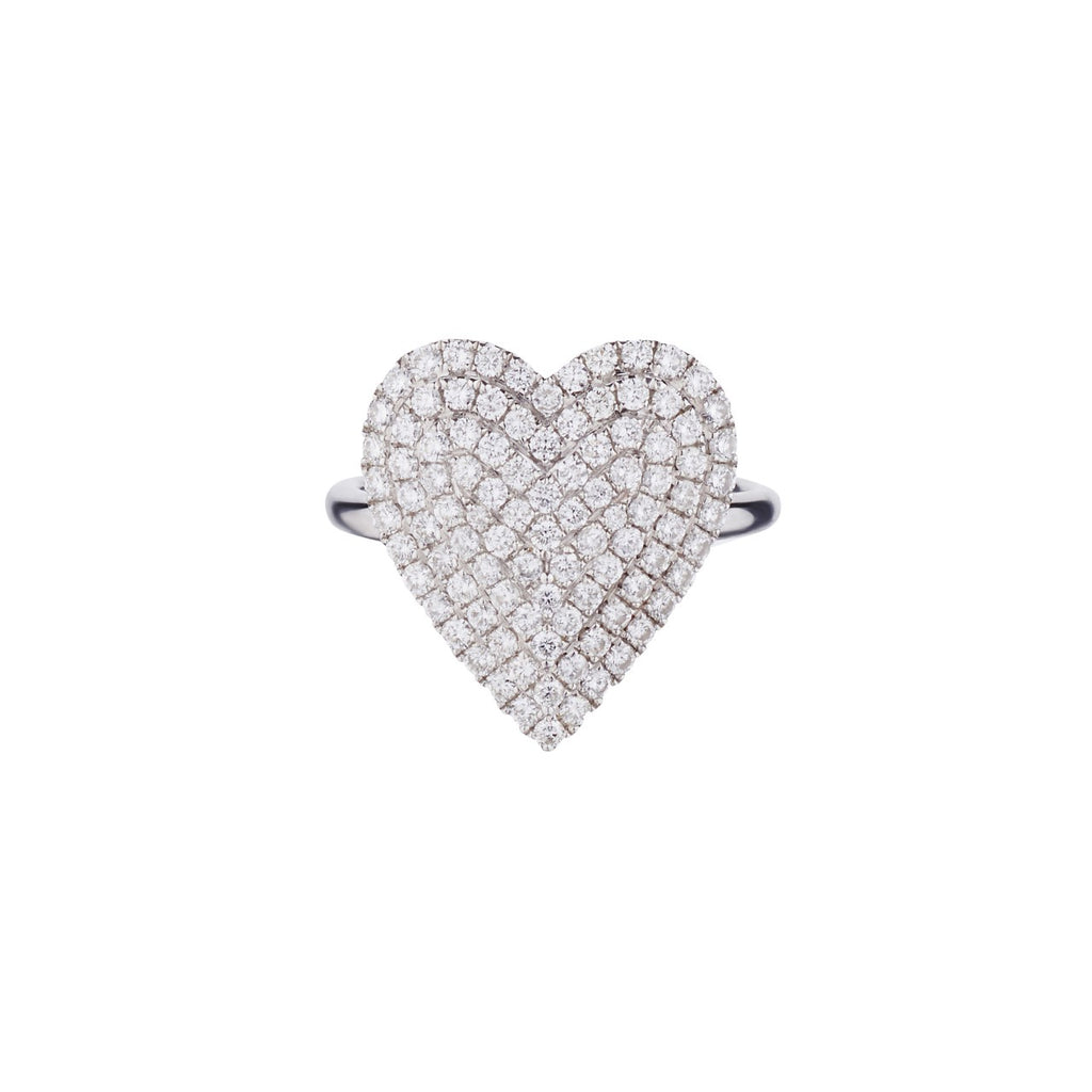 DIAMOND TIERED HEART RING