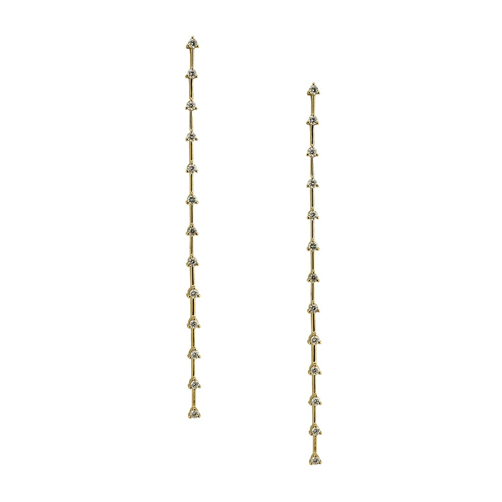 Elongated Diamond Earrings