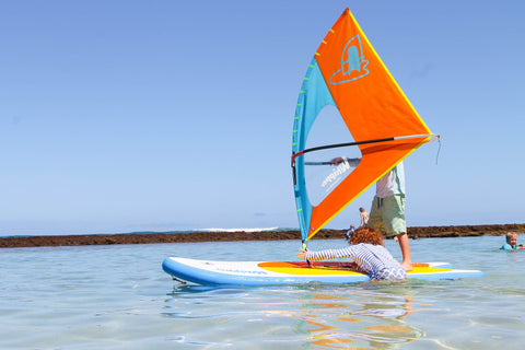 Meet the WhipperSail - the best windsurf rig for kids ever made!
