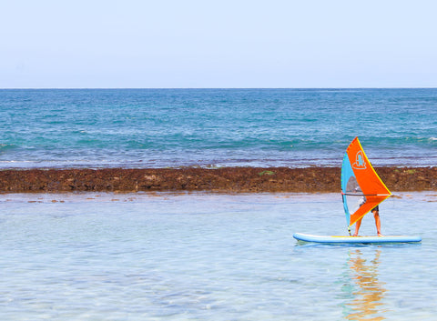 Meet the WhipperSail - the best windsurf rig for kids ever