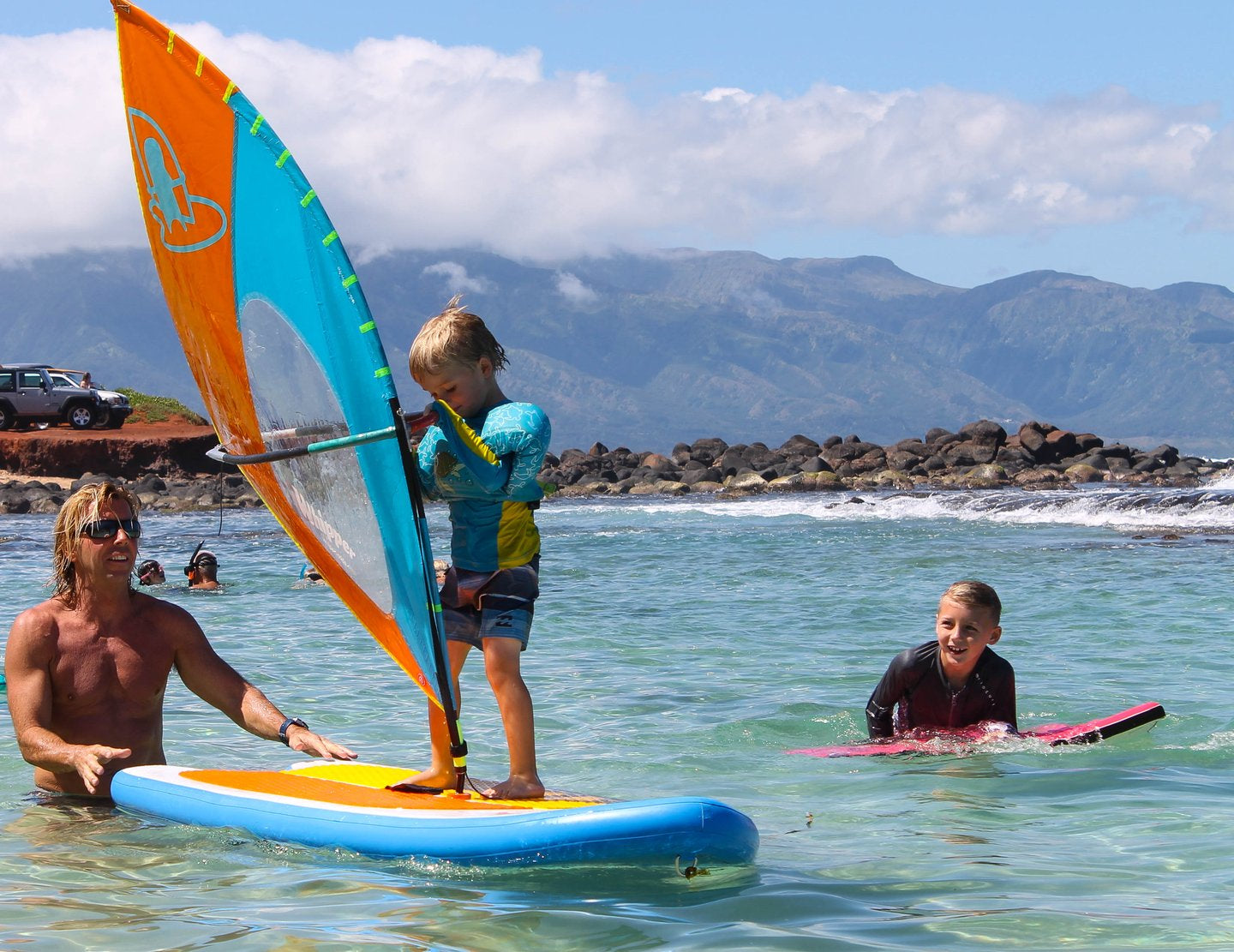 Your Kids first Windsurf