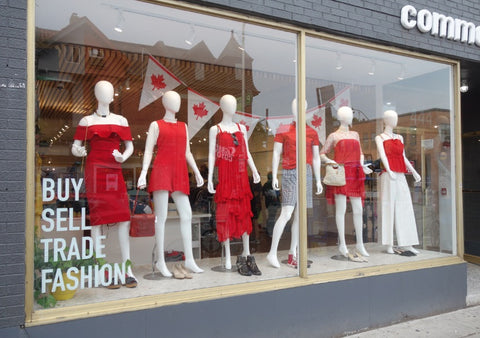 Toronto Mannequins in Store Windows