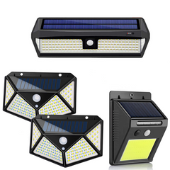 solar LED wall lights
