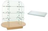 glass shelf and glass display