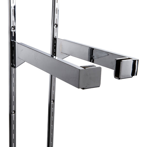"12"" end bracket for rectangular hangrail, sold in pairs"