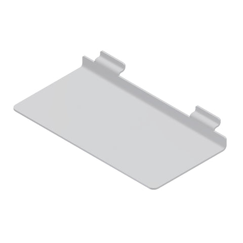 12 x 6 - inch plexi shoe shelf for slatwall, 3/16 - inch thickness.
