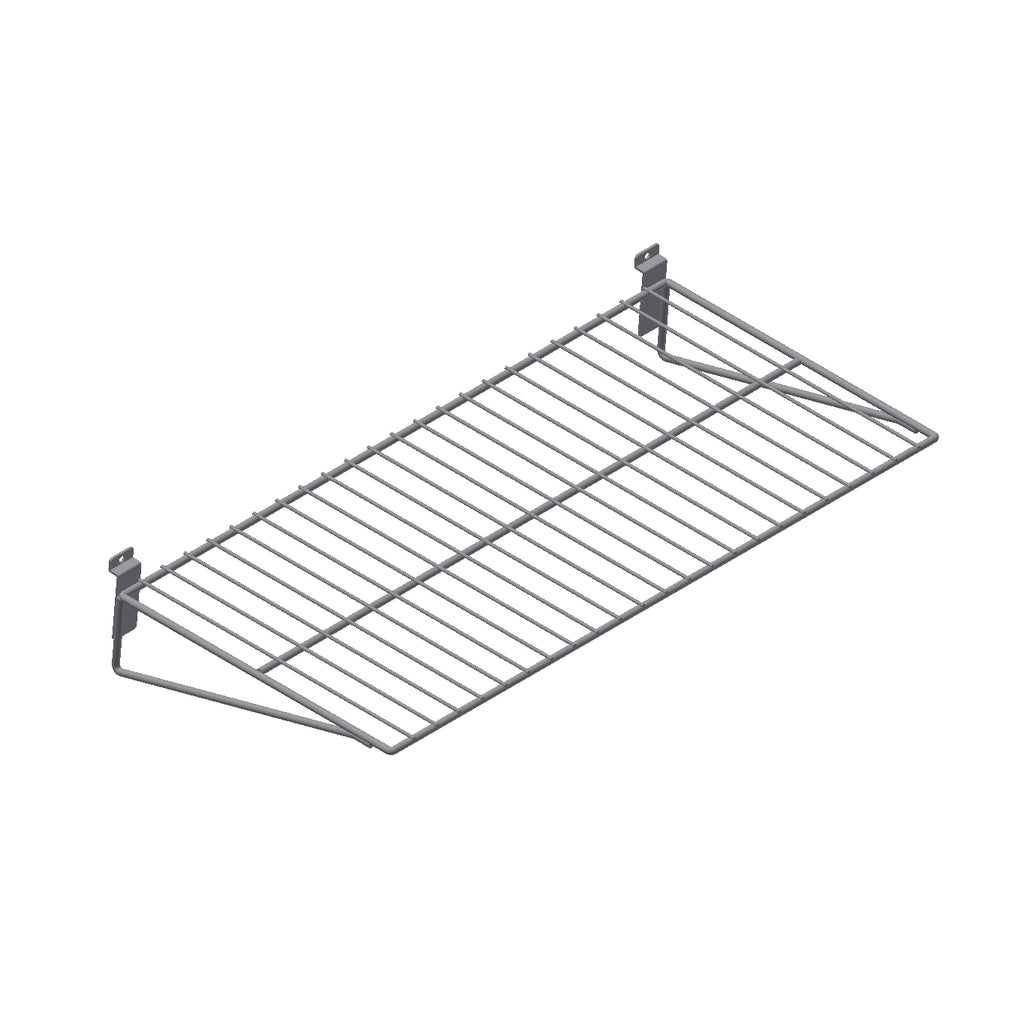 wire straight shelf for slatwall