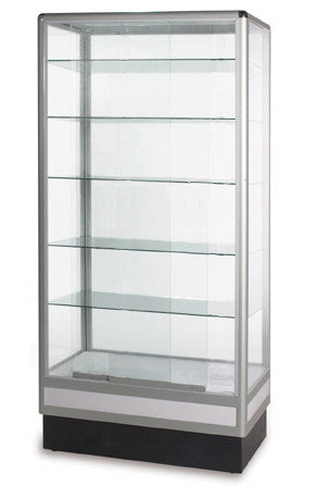 Display Cabinet With Aluminum Frame- 72 x 34 x 20-inch