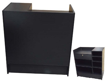 Retail Display Counters Black - 36 x 20 x 38 - Inch