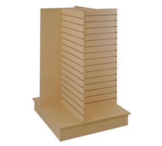4 Way Gondola Slatwall Maple - 36 x 36 x 54 -Inch