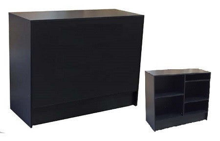 Retail Counters In Black - 48 x 20 x 38 - Inch