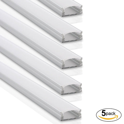 U-Shaped Aluminum Channel System, With Frosted White Diffuser Covers ---C6066