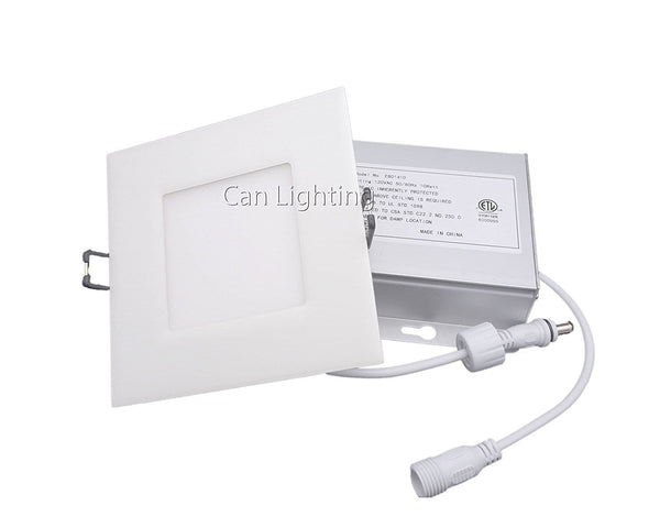 LED Recessed Ceiling Lights,4 Inch LED Square Slim Panel Light ---C2200