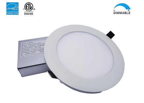 LED Slim Panel, 6 inch White Trim, 15W, Dimmable ---C6060