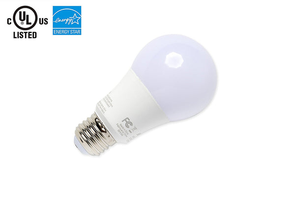 LED A19 Light bulb, DIMMABLE, 5000K Pure White OR 3000K Warm White ---C2165WW / C2165CW